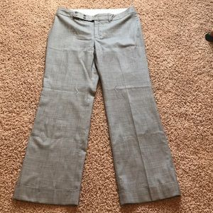 Banana republics wide leg dress pant grey plaid